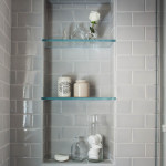 1 bathroom glass shelves