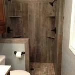 1 shower that looks like barn wood
