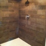 1 wood look shower