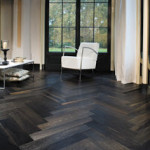 1Herringbone floor dark wood