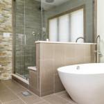 glass shower wall