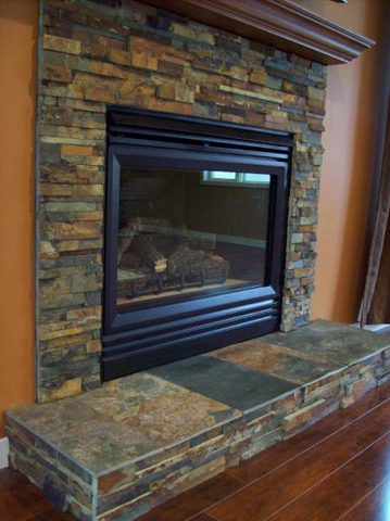 Fireplaces man n mountain for Stone fireplace hearth cleaning