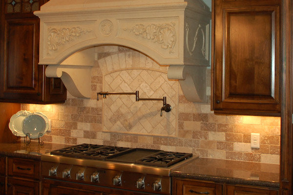 travertine kitchen backsplash ideas tile backsplash travertine 1 6355